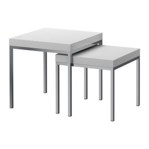 KLUBBO Nest of tables, set of 2, white 당일발송