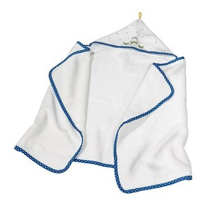 TORVA Baby towel with hood, white